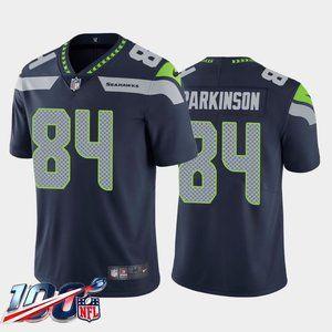Seattle Seahawks Colby Parkinson Navy Jersey